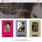 harpiste sophie wordpress website