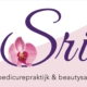 sri pedicure beauty logo ontwerp en concept